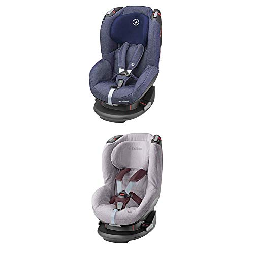 Maxi-Cosi Tobi, Kindersitz mit fünf komfortablen Sitz- und Ruhepositionen, Gruppe 1 Autositz (9-18 kg), nutzbar ab 9 Monate bis 4 Jahre, sparkling blue + Sommerbezug, cool grey