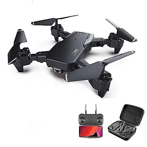 JJDSN Drone Pieghevole Ultraleggero, droni S60 con Doppia Fotocamera 4K HD, Giocattoli telecomandati, Regali per Ragazzi e Ragazze con modalità Seguimi, modalità Senza Testa, Mantenimento dell'alt