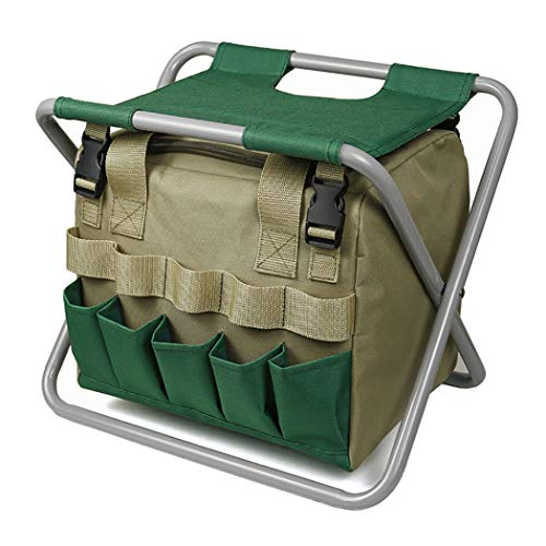 COSYOO Garden Stool Folding Outdoor Garden Seat Packable Lightweight Detachable Garden Seat with Bag