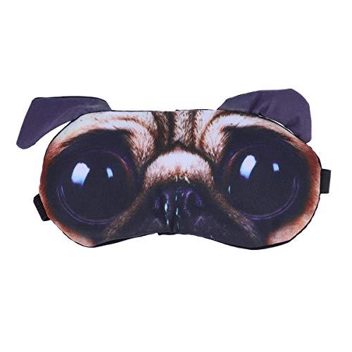 Healifty Schlafmasken Mops Hund Muster Augenmaske mit Eisbeutel Augenkühlung Maske Augenklappen