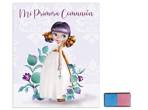 Libro Álbum Comunión Niña + Tampón Huellas 28x24