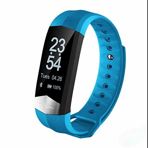 Tracker d'Activité avec Cardiofréquencemètre,Alarme Vibrante,Trackers d'activité,Podomètres,Cardiofréquencemètres,écran tactile capacitif,Ecran LCD compatible Smartphone/Iphone/Android