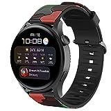 Correa Compatible con Huawei Watch 3/3 Pro/GT 2 Pro/GT2 46mm/GT/GT 2e/GT Active/Honor Magic Watch 2 46mm Correa de Silicona, 22mm Band de Deportiva Pulseras de Repuesto (Rojo)