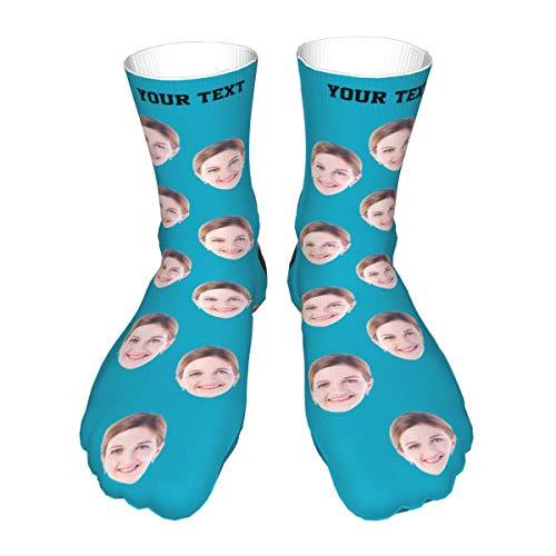 Tanwenling33 Calcetines Personalizados con Fotos, Calcetines Personalizados con Cara, Perro Gato Cara de Mascotas Calcetines con Imagen, Regalo para Hombre o Mujer