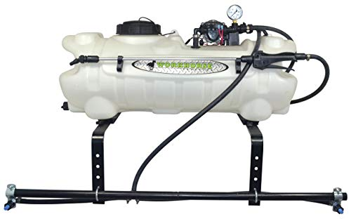Workhorse ATV1502 15 Gallon ATV Economy Sprayer - Adjustable 2 Nozzle Boom Sprayer, 80 in. Coverage w/Handgun, 8 Ft. Wiring Harness, Battery Clips, Switch