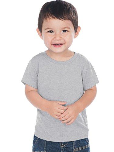 Kavio! Unisex Infants Crew Neck Short Sleeve Tee (Same IJC0432) Heather Gray 12M