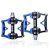 ThinkTop Trade MTB/BMX Road Mointain Bike Pedals Bicycle Platform 3 Sealed Bearing Pedals Axle 9/16 Inch …