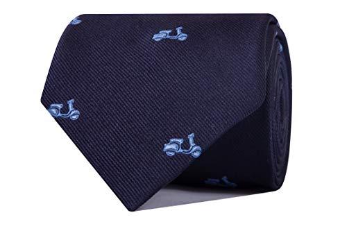 Nosologemelos - Corbata Vespas - Azul Celeste - Hombres - Talla Unica
