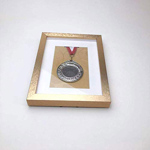 Hao-zhuokun Medal 3D Box,Medal Display Box Medal Display Case,Picture Frame Fits Four Medal,for Military/War/Sports,More Sizes,gold,silver,black,purple