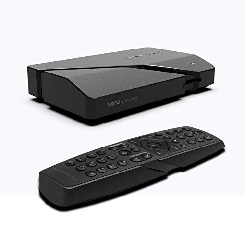 DreamTV Mini Ultra HD 4K 2160p Android 9.0 16GB Flash, 2GB RAM, H.265, HDMI 2.1, USB3.0, IPTV Streamer, Dual WLAN 2,4/5GHz, LAN, Bluetooth Smart TV Box Schwarz