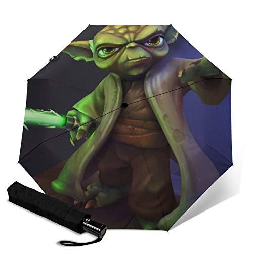 Star Wars Yoda - Paraguas de viaje plegable y portátil, resistente al...