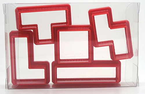 Tetris-Ausstechformen 5-er Set, für Kekse, Teig, Fondant-Ausstechformen