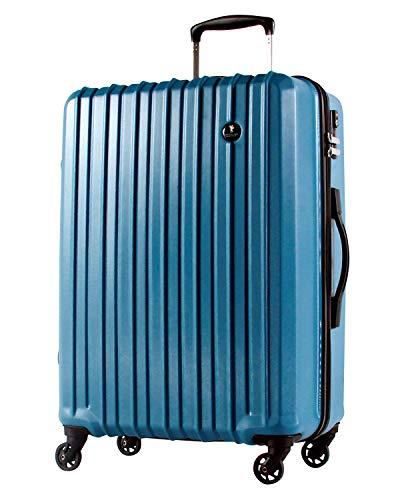 L型 ビリジアンブルー / PC7258 TSAロック搭載 キャリーバッグ スーツケース ハード 超軽量 大型 (5~10日用)
