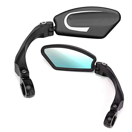 ISSYZONE [2 Stück] Fahrradspiegel 180° Drehspiegel Rückspiegel Lenkerspiegel mit Linke Seite und Rechte Seite Blind Spot für Fahrrad E Bike Mountainbikes Rennrad