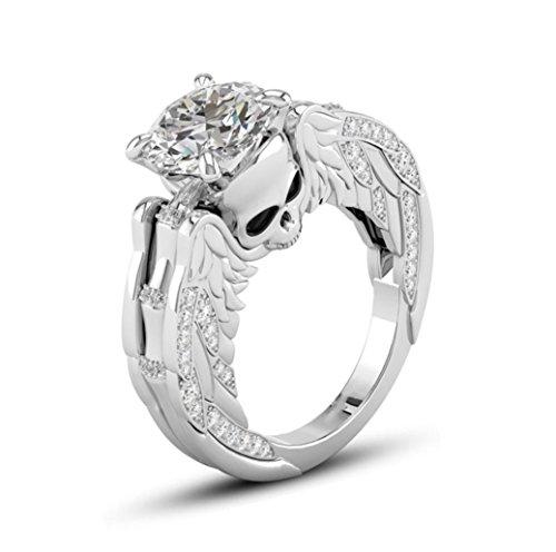 Keerads anello, argento moda lusso teschio con strass anelli gioielli moda donna regalo