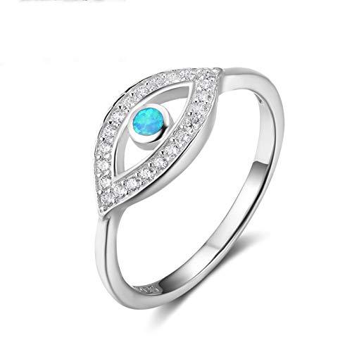 MF.CHAMA Ring Silber 925 Damen œil Opal Blau