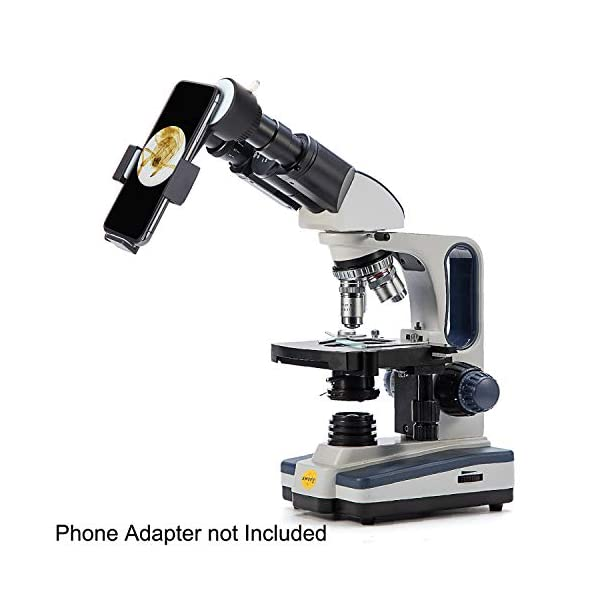 Swift SW350B Professional Microscope Binocular Compound Lab Microscope for Adults,40X-2500X ,Siedentopf Head, Research-Grade,Wide-field 10X and 25X Eyepieces, Mechanical Stage, Abbe Condenser