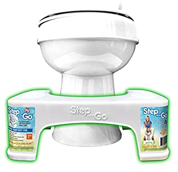 """Step and Go LLC Toilet Stool 7"""" New - Proper Toilet Posture for Better and Healthier Results"""