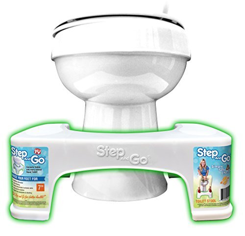 "Step and go Toilet Stool 7"" New - Proper Toilet Posture for Better and Healthier Results, 2 Pound"