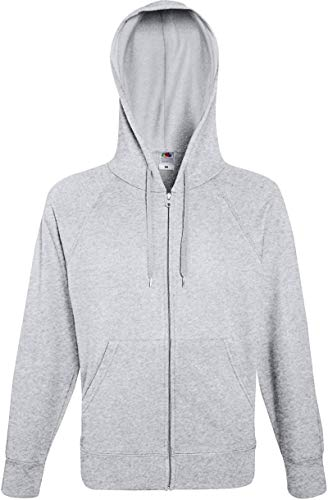 Ugsgdhgsdd Men's Lightweight Hooded Sweat Jacket Hoodie,Grey (Heather Grey 123),L