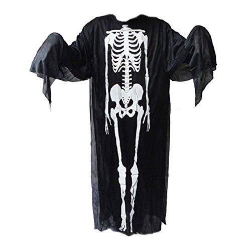 Uteruik Skeleton Poncho Ghost Kostuum Halloween Masquerade Jurk Kinderkleding Jongens, 1 st