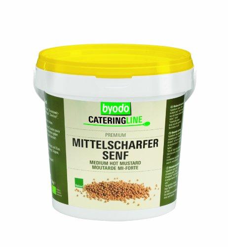 Byodo Mittelscharfer Senf, 2er Pack (2 x 1000 g Eimer) - Bio