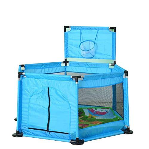 Cerca Hexagonal del Juego de los Niños,Cerca Segura del Bebé que se Arrastra del Bebé,Parque Bebe,Valla Seguridad Infantil Azul2 Talla única
