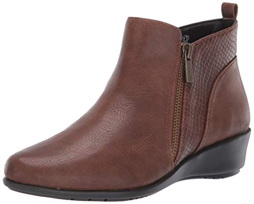 Aerosoles Women's All The Way Ankle Boot, Mid Brown Combo, 7 M US