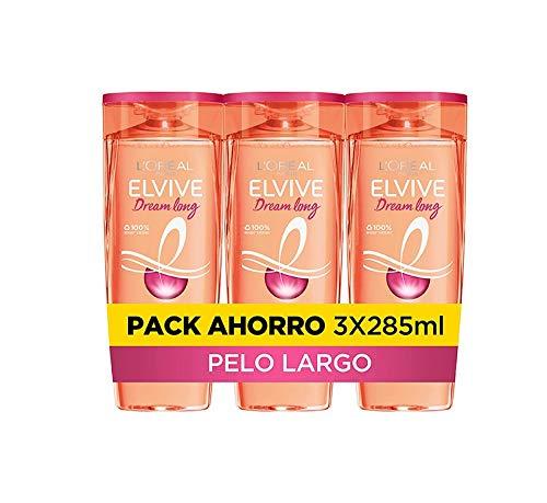 L'Oreal Paris Elvive Dream Long Shampoo 285 ml (Paquete de 3)