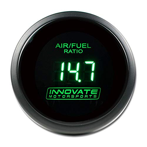 """Innovate Motorsports 3873 DB Series Green 2-1/16"""" 52mm Complete Wideband Gauge Kit with LC-1, O2 Sensor, Bung and Plug"""