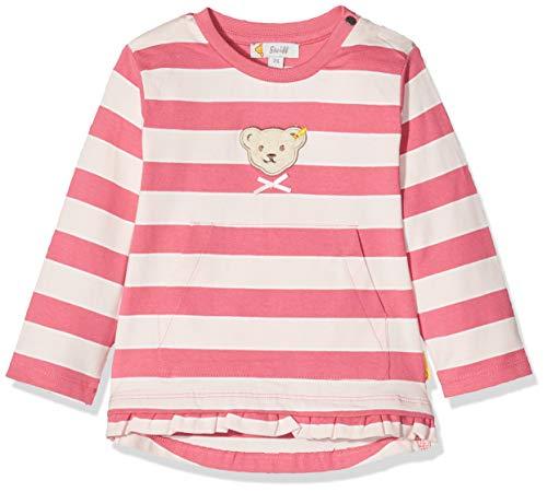 Steiff Baby-Mädchen mit Streifen und Teddybärmotiv_L002011123 Sweatshirt, Rosa (Pink Dove 2203), 62 (Herstellergröße: 062)