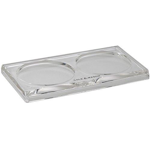 Cole & Mason Acryl Mühlen Tablett, Clear, 17 x 11 x 24,5 cm