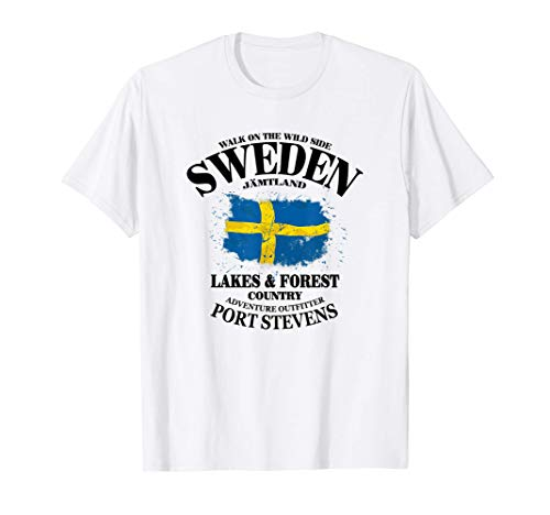 Schweden Schwedische Flagge Fahne Sweden Sverige T-Shirt