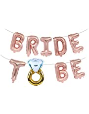 'Bride to Be' Bridal Shower/Bachelorette Party Balloon Garland - Rose Gold