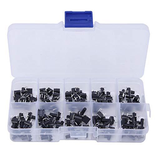 100pcs 10 Value 6x6x4.3-13mm Pulsador táctil Micro Interruptor Interruptor de tacto momentáneo impermeable para electrodomésticos 、 Juguetes Products Productos electrónicos