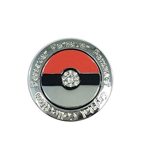 Parsaver Swarovski-Kristall-Golf-Ball-Marker - mit Hut-Gürtel-Clip - Deluxe Pokemon Pokeball Design - lustig und Kid Friendly - unvergleichliche Brillanz und Glanz auf den Grüns.