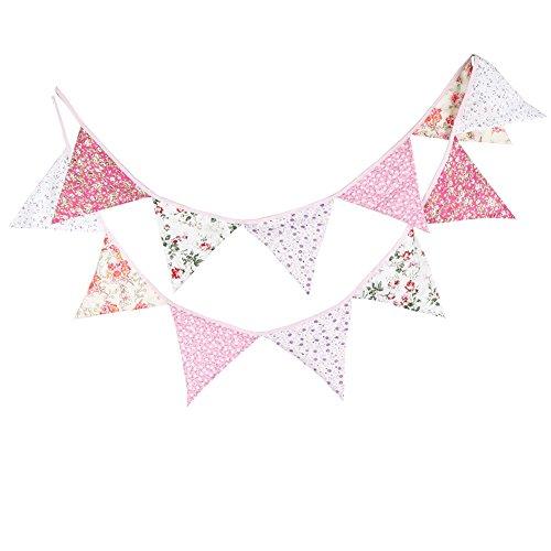 Cdet Bandera del triángulo del algodón Bandera de la decoración del cumpleaños...