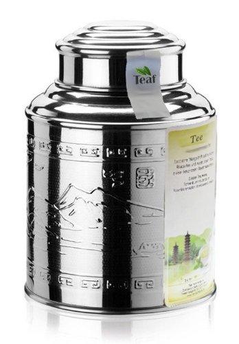 """POPOFF® """"RUSSICHER KARAWANENTEE"""" - schwarzer Tee - im Tea Caddy (Teedose) - Ø115 mm, Höhe 150mm (250g)"""