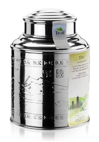 CITRONELLA - Aromatisierter grüner Tee - im Tea Caddy (Teedose) - Ø98 mm, Höhe 135mm (100g)