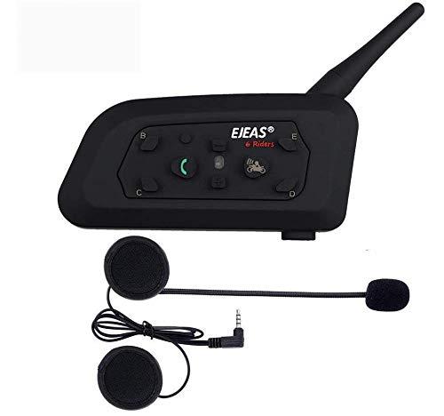 Double EJEAS V6 Pro 1200M Interfono per cuffia interfono Bluetooth per cuffia 6 Utenti Interfono Bluetooth per motocicletta
