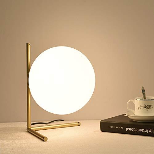 SHENLIJUAN Escritorio LED Lámpara con Pantalla Bola de Cristal, Soporte de Hierro for el Dormitorio, Estudio, Decoración