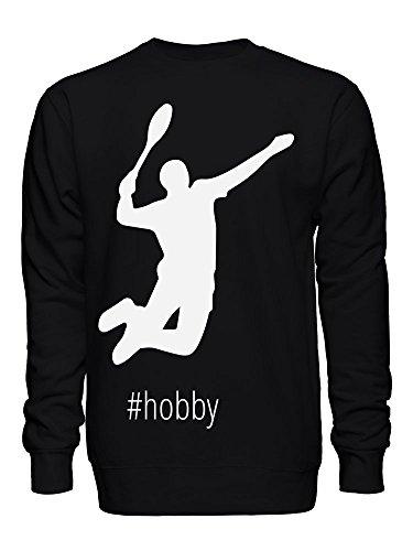graphke Hashtag Badminton Unisex Sweatshirt Large