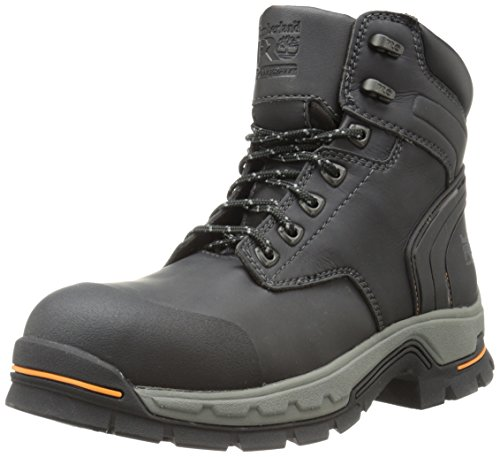 Timberland PRO Men's 6 Inch Stockdale Grip Max Alloy Toe Work and Hunt Boot, Black Microfiber, 10.5 M US