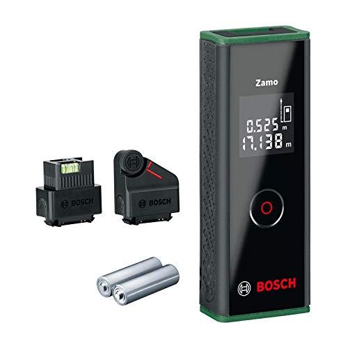 Bosch Laser Entfernungsmesser Zamo Set mit zwei Adaptern (3. Generation, Messbereich: 0,15 – 20,00 m, Karton)