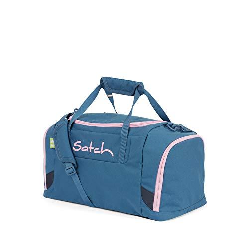 Satch Sporttasche - 25l, Schuhfach, gepolsterte Schultergurte - Deep Rose - Hellblau