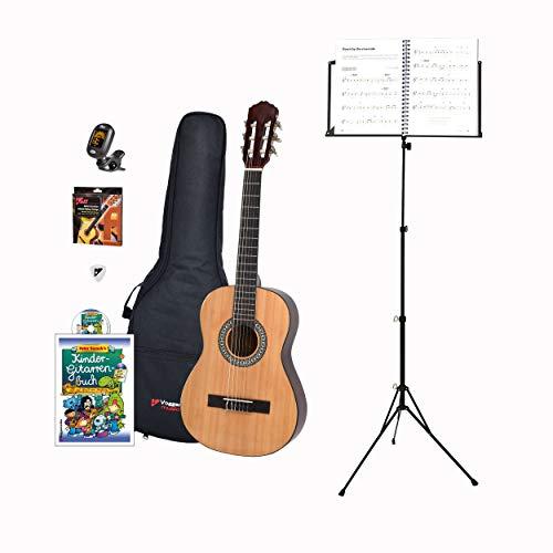 Voggenreiter Kindergitarren-Set, 7-tlg, Gitarre 1/2, Volt Notenständer NS-100, Kinder Akustikgitarre