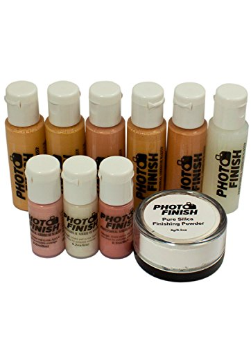 Photo Finish Professional Airbrush Cosmetic Makeup System Kit/Fair to Medium Shades (Matte- Finish)