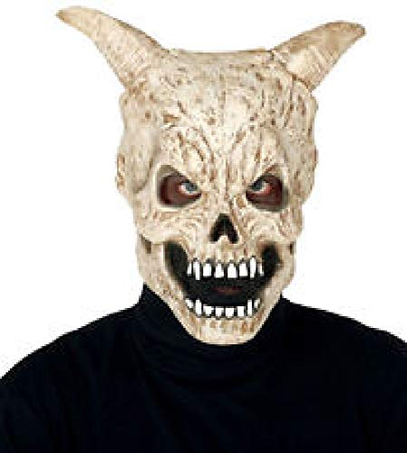 Guirca Masque tête de Mort avec Cornes en Latex, Couleur crème, 2861