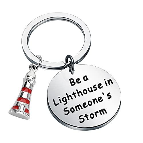 """Llavero con texto en inglés """"Be a Lighthouse in Someone"""