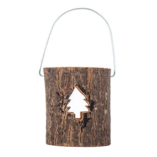Qiujing Portacandele in legno per Eid Mubarak Craft Legno Candlestick Shelf Desktop Decorazione